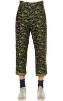 Golden Goose Deluxe Brand Camo Printed Cotton Denim Jeans - Lyst