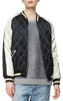 McQ by Alexander McQueen Quilted Bomber Jacket Blackcream - Lyst