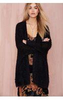 Nasty Gal Madeline Shag Knit Cardigan - Lyst