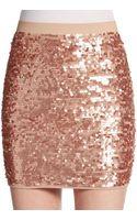 BCBGMAXAZRIA Sequined Mini Skirt - Lyst