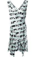 Kenzo Palm Print Dress - Lyst