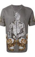 Dolce & Gabbana Knight Print T-shirt - Lyst