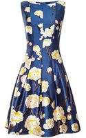 Oscar de la Renta Floralprint Silkblend Dress - Lyst