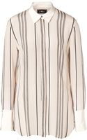 By Malene Birger Striped Silk Blouse - Lyst