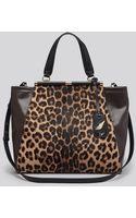 Diane Von Furstenberg Tote 440 Runway Leopard Print Haircalf - Lyst