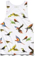 21men Tropical Bird Tank Top - Lyst