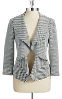 Calvin Klein Ruffle Accented Blazer - Lyst