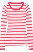 Enza Costa Striped Fineknit Cashmere Sweater - Lyst