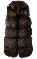 Vicedomini Long Fox Fur Knit Vest - Lyst