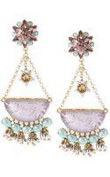Betsey Johnson Gold-tone Star and Cloud Chandelier Drop Earrings - Lyst