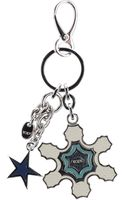 Tod's Leather Applique Key Ring - Lyst