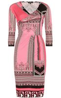 Etro Printed Wrap Dress - Lyst
