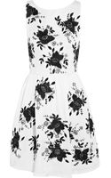 Alice + Olivia Lillyanne Embellished Openback Silktwill Dress - Lyst