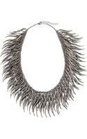 Kenneth Jay Lane Gunmetal Spike Cluster Necklace - Lyst