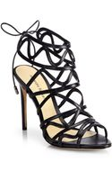 Alexandre Birman Strappy Leather Cage Sandals - Lyst