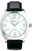 Ben Sherman Black Leather Strap Watch Bs080 - Lyst
