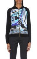 Emilio Pucci Silk-panelled Wool-blend Jacket - Lyst