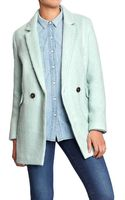 Old Navy Wool-Blend Long Blazer - Lyst