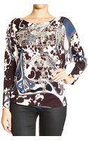 Emilio Pucci Top Long Sleeve Details Studs Print Appaloosa - Lyst