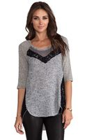 Free People Mix It Up Hacci in Gray - Lyst