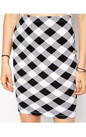 Asos Pencil Skirt in Check Print - Lyst