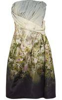 Valentino Printed Silk-twill Dress - Lyst