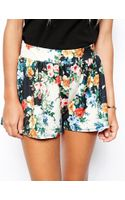 Asos Tall Floral Printed Culotte Shorts - Lyst