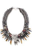 Assad Mounser Swarovski Crystal Pendant Spike Collar Necklace - Lyst
