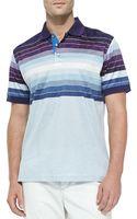 Robert Graham Vertical Limit Knit Striped Polo Shirt - Lyst