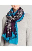 Diane von Furstenberg Lace Lines Scarf - Lyst