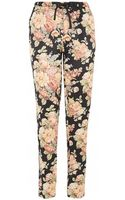 Maison Scotch Printed Black Silky Relaxed Fit Pyjama Pant - Lyst