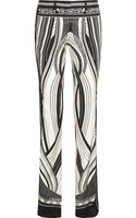 Roberto Cavalli Chicago Printed Silk-twill Straight-leg Pants - Lyst