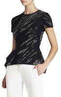 BCBGMAXAZRIA Darby Handkerchief-hem Jacquard Pullover - Lyst