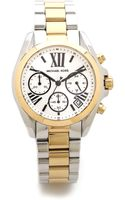 Michael Kors Mini Brandshaw Watch Goldsilver - Lyst