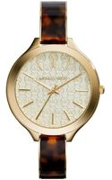 Michael Kors Ladies Slim Runway Watch - Lyst