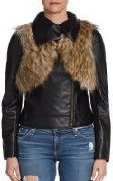 Twelfth Street By Cynthia Vincent Faux Leather Moto Jacket - Lyst