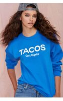 Nasty Gal Petals and Peacocks Tacos La Sweatshirt - Lyst