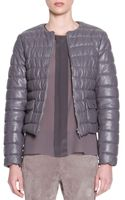 Piazza Sempione Lambskin Leather Puffer Jacket - Lyst