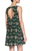Alice + Olivia Lana Geometricprint Voile Dress - Lyst