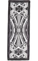 Roberto Cavalli Printed Lightweight Silk Satin Scarf - Lyst