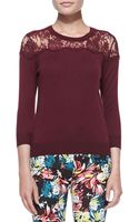 Erdem Manon Lace Yoke Jumper - Lyst