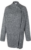 Filippa K Mid Grey Chunky Oversized Cardigan - Lyst