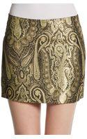 Alice + Olivia Yolanda Paisley Mini Skirt - Lyst