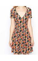 Asos Tea Dress in Floral Print - Lyst