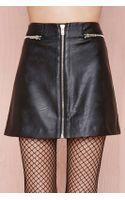 Nasty Gal Zip Line Skirt - Lyst