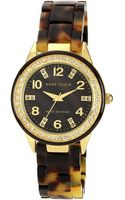 Anne Klein Ladies Tortoise Glitz Watch - Lyst