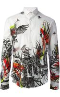 McQ by Alexander McQueen Insect and Bird Print Shirt - Lyst