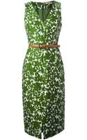 Michael Kors Floral Print Dress - Lyst