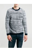 Topman Everest Cotton Stripe Crew Neck Sweater - Lyst