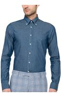 Gant Rugger Indigo Cotton Shirt - Lyst